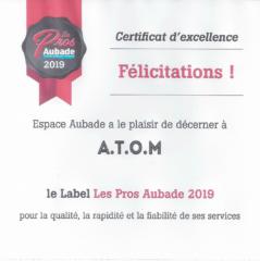 Certificat-ESPACE-AUBADE-PRO-2019